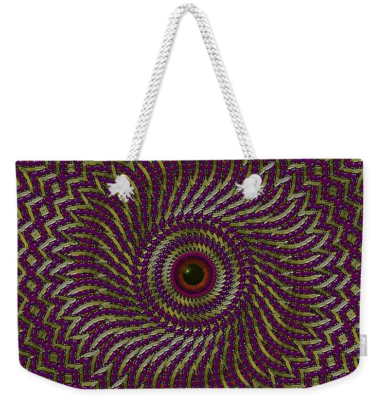 Eye Weekender Tote Bag featuring the digital art Window Of The Soul- by Robert Orinski