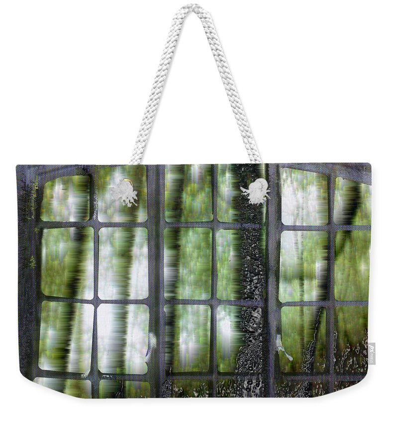 Window On The Woods Weekender Tote Bag featuring the digital art Window On The Woods by Seth Weaver