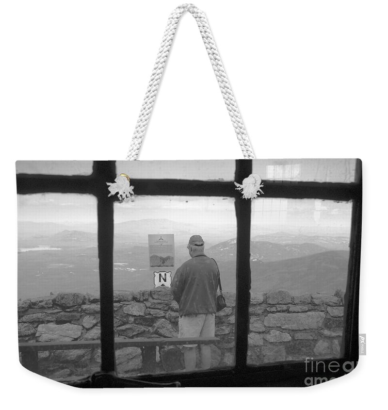 Windows Weekender Tote Bag featuring the photograph Window On White Mountain by David Lee Thompson