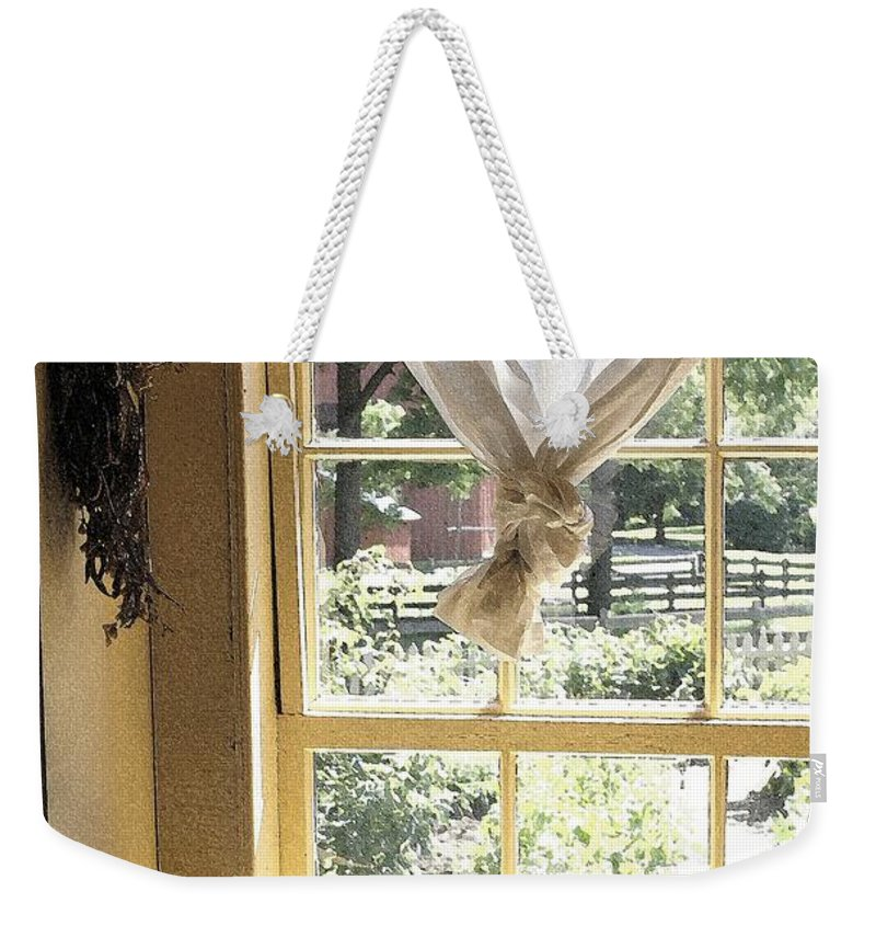 Window Weekender Tote Bag featuring the photograph Window On Yesterday by Nelson Strong
