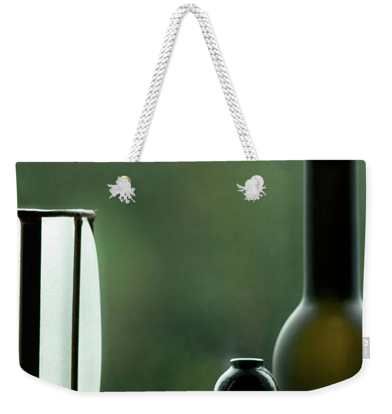 Decorative Weekender Tote Bag featuring the photograph Window Sill Decoration by Heiko Koehrer-Wagner