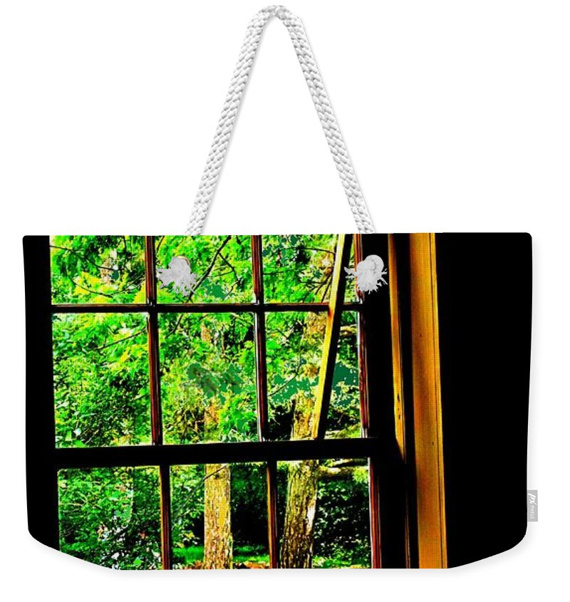 Window Weekender Tote Bag featuring the photograph Window To My World by Ian MacDonald