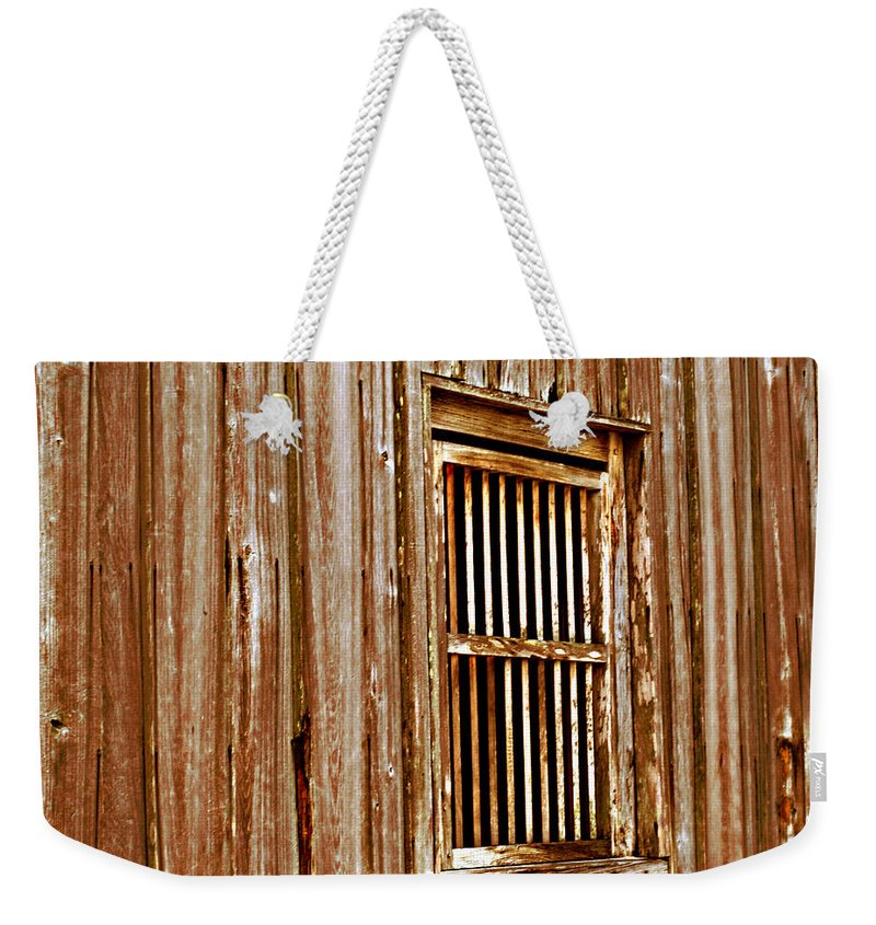 Florida Weekender Tote Bag featuring the photograph Window To The Past by Bob Johnson