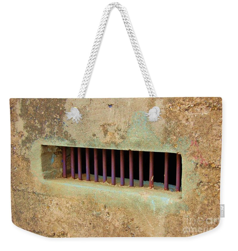 Jail Weekender Tote Bag featuring the photograph Window to the World by Debbi Granruth
