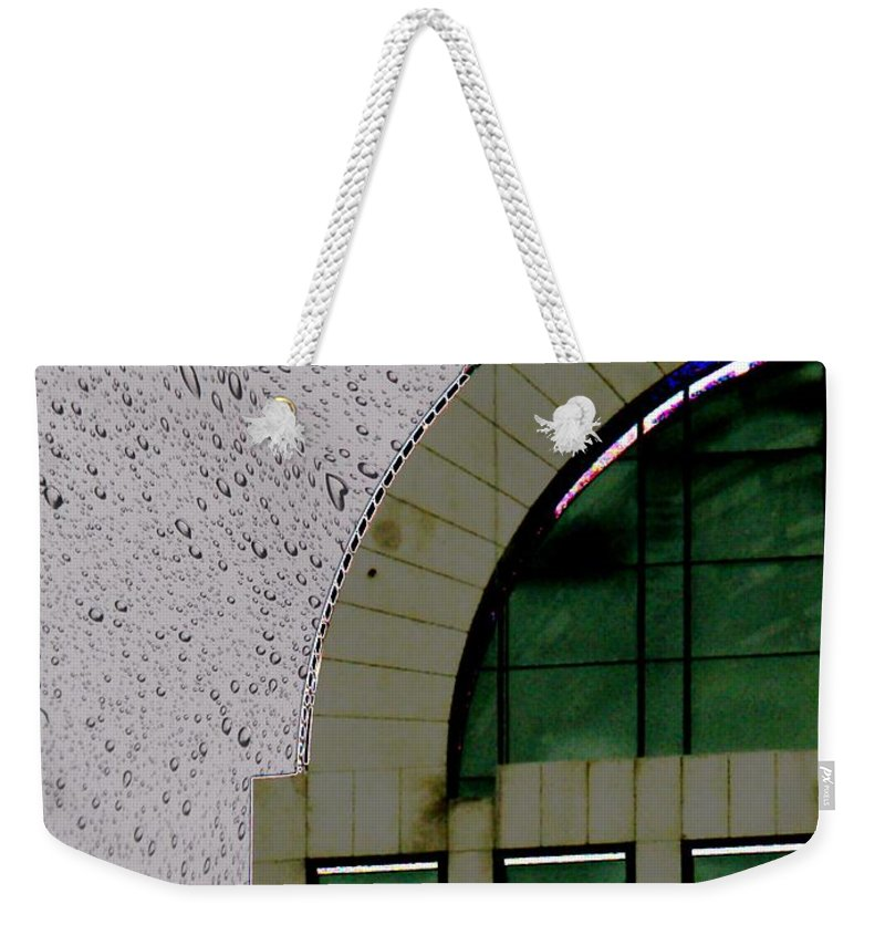 Seattle Weekender Tote Bag featuring the photograph Window Washer by Tim Allen