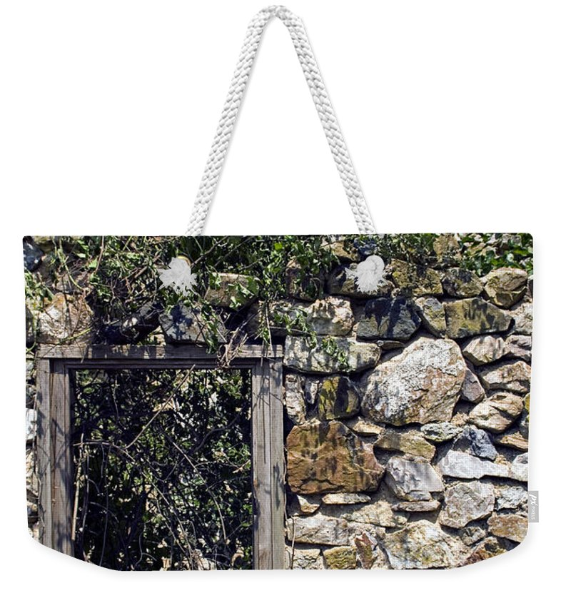 Ruin Weekender Tote Bag featuring the photograph Windowless by Scott Wyatt
