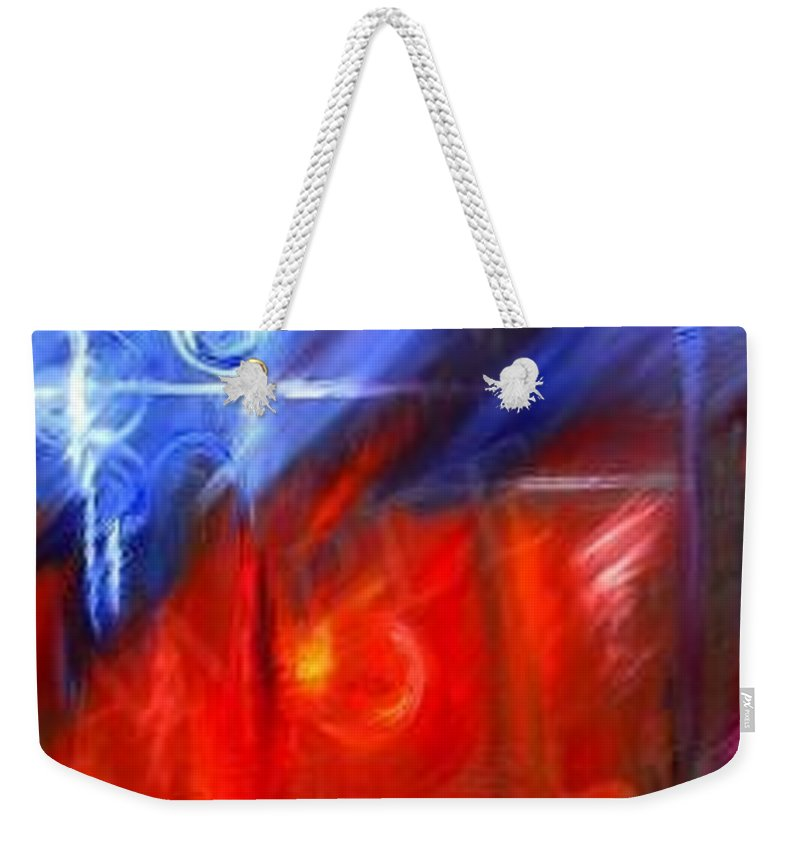 Abstracts Weekender Tote Bag featuring the painting Windows by James Christopher Hill