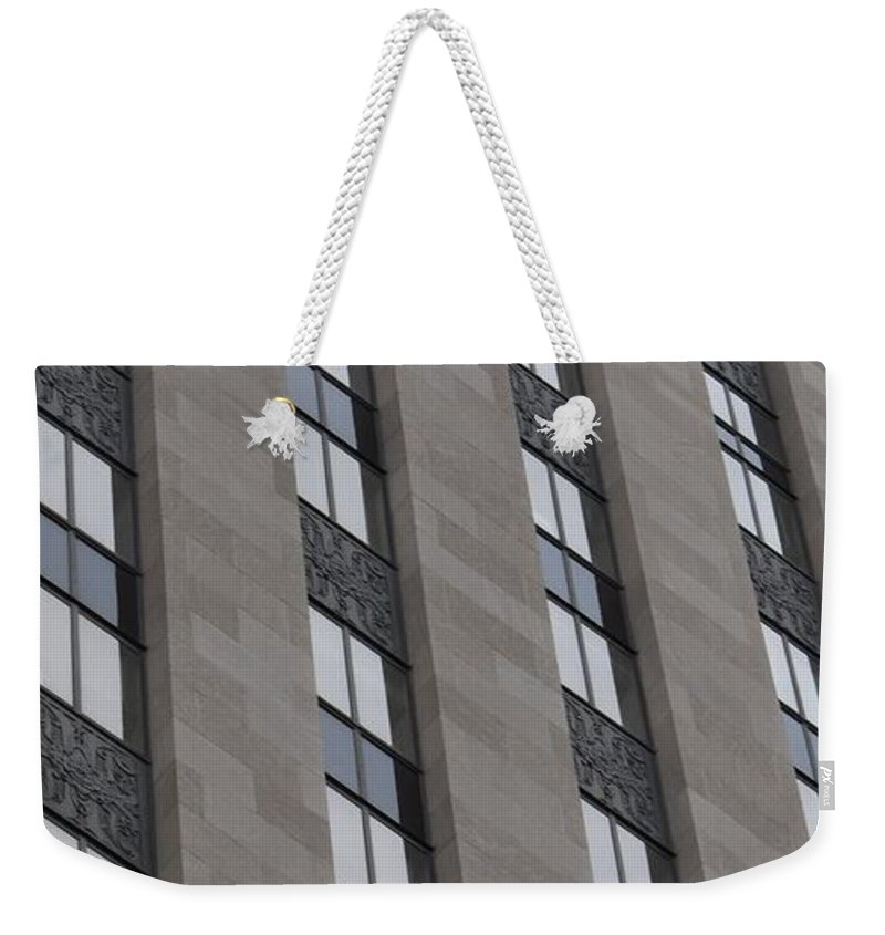 Windows Weekender Tote Bag featuring the photograph Windows by Linda Benoit