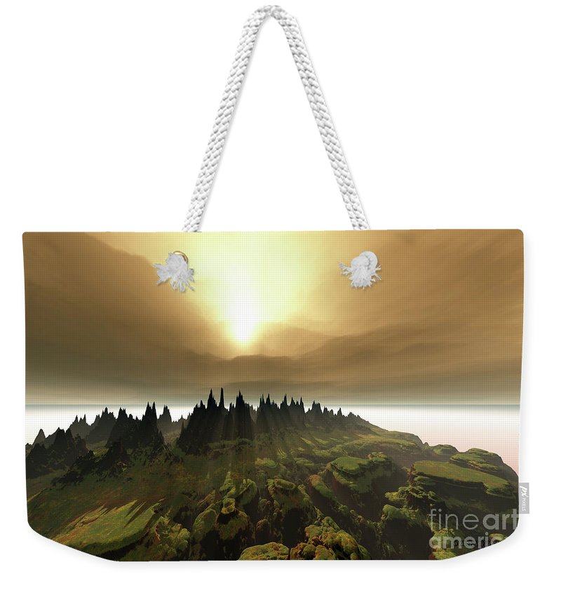 River Weekender Tote Bag featuring the painting Windrift by Corey Ford