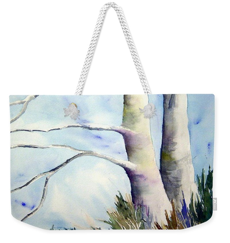 Provence France Mistrals Weekender Tote Bag featuring the painting Winds Of Provence by Joanne Smoley