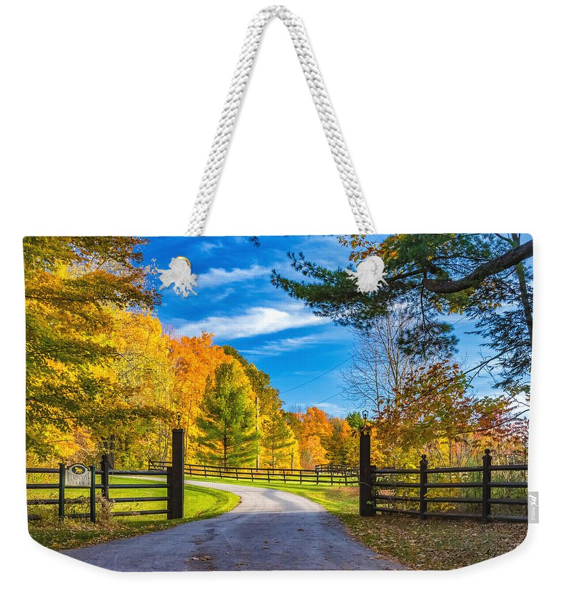 Steve Harrington Weekender Tote Bag featuring the photograph Windstone Farm by Steve Harrington
