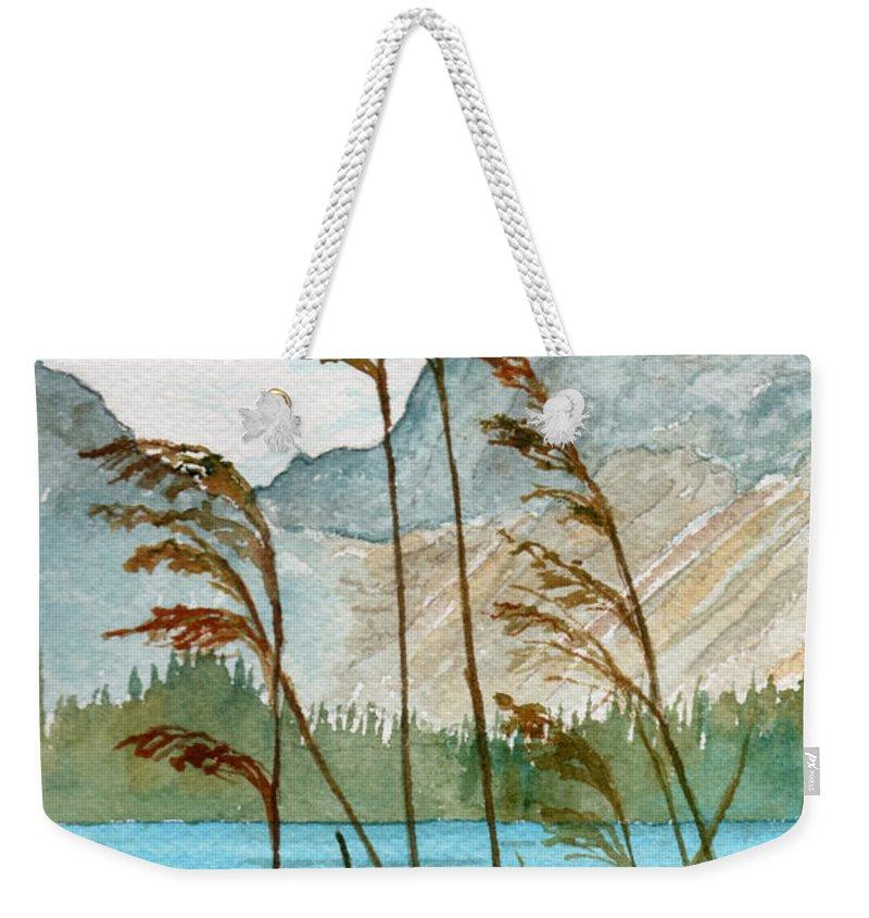 Landscape Weekender Tote Bag featuring the painting Windswept by Brenda Owen