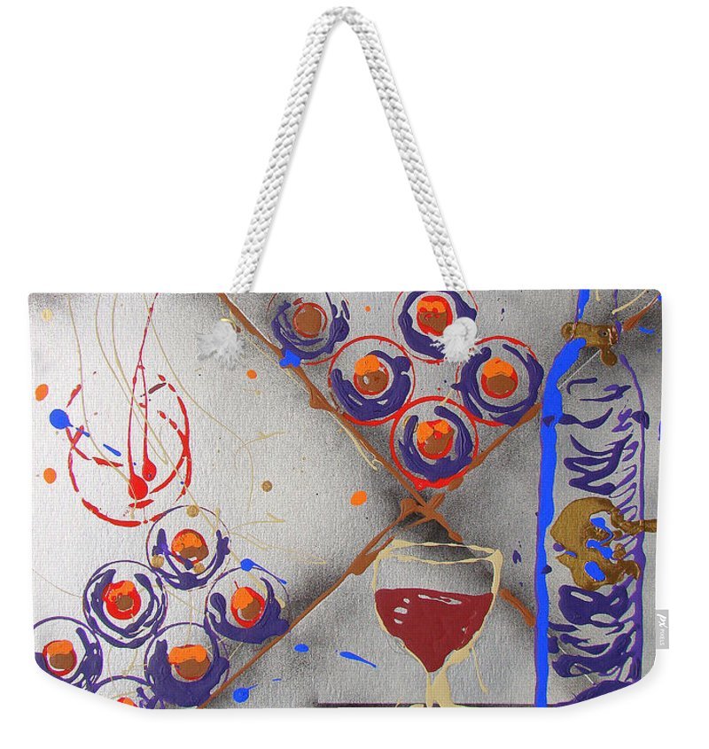 Impressionist Painting Weekender Tote Bag featuring the painting Wine Connoisseur by J R Seymour