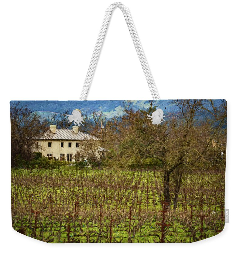 Napa Weekender Tote Bag featuring the photograph Wine Country California 1 by Mike Penney