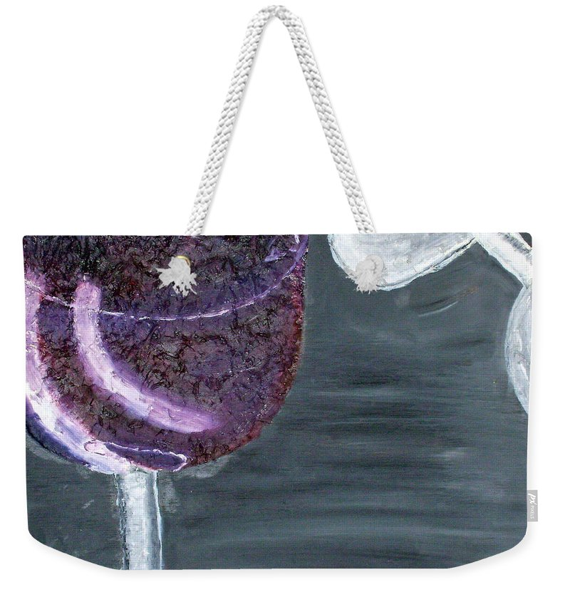 Still Life Paintings Weekender Tote Bag featuring the painting Wine From The Vine To The Glass by Leslye Miller