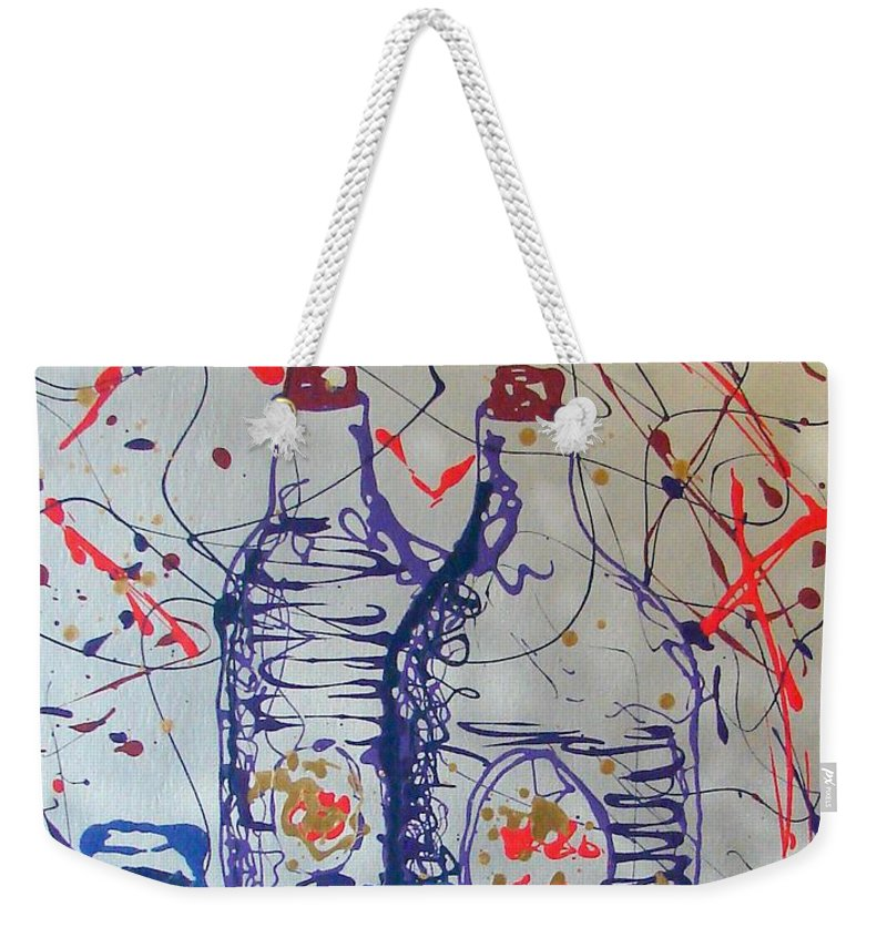 Impressionist Painting Weekender Tote Bag featuring the painting Wine Jugs by J R Seymour
