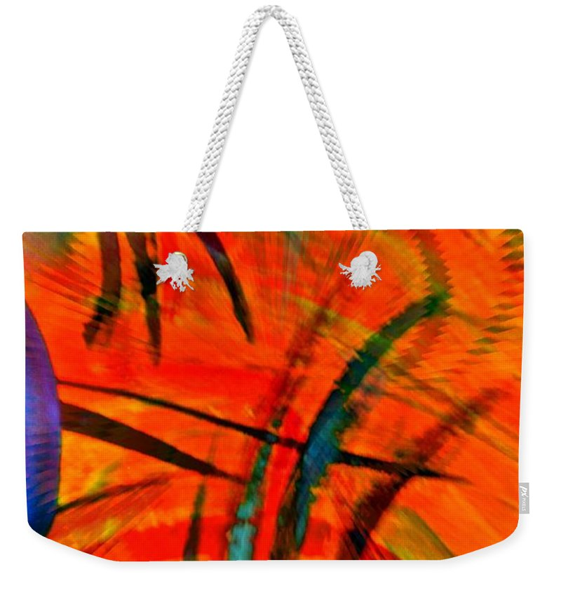 Abstract Weekender Tote Bag featuring the digital art Wings by Gwyn Newcombe