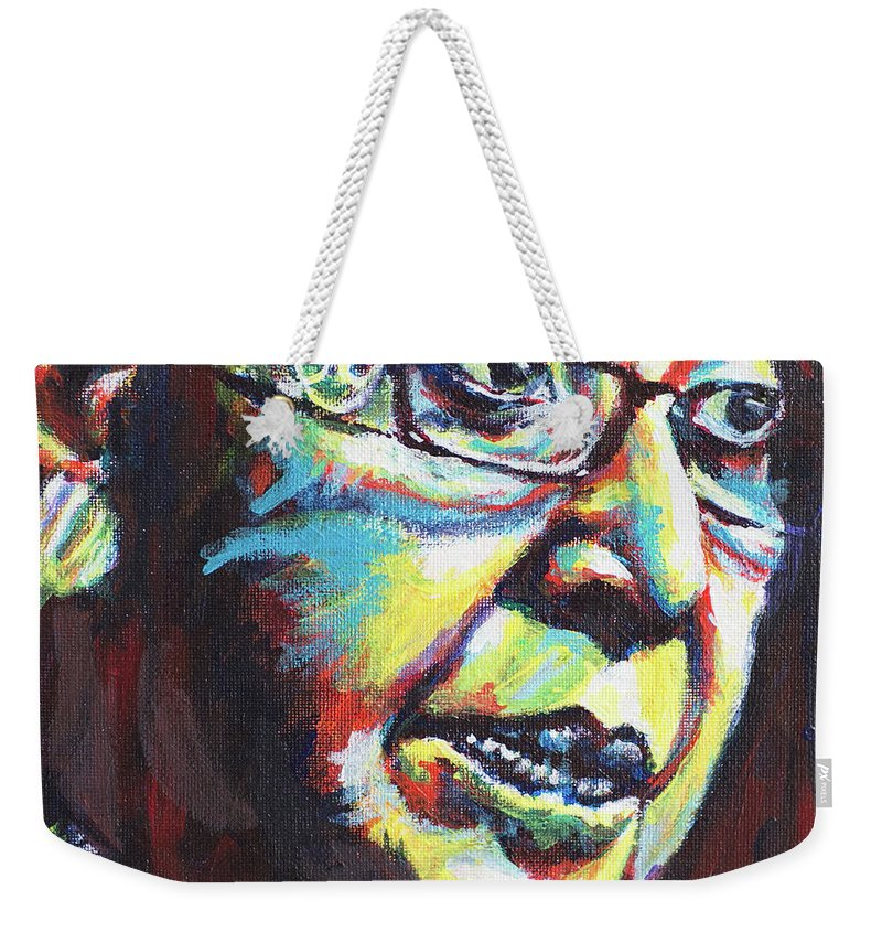 Portrait Weekender Tote Bag featuring the painting Winnie by Larry Ger
