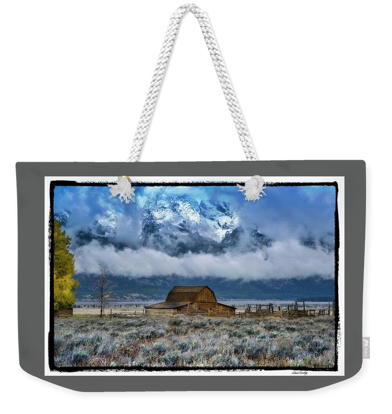 Grand Tetons Weekender Tote Bag featuring the photograph Winter Approaching by Richard Cronberg