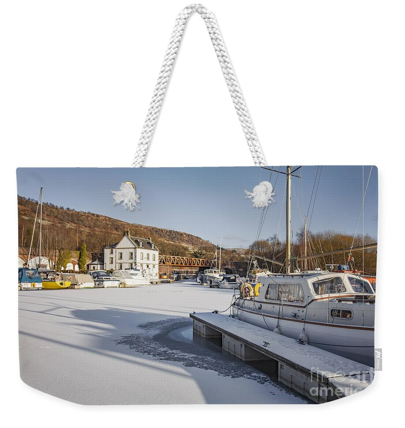 Erskine Weekender Tote Bag featuring the photograph Winter At Bowling Harbour by Sophie McAulay