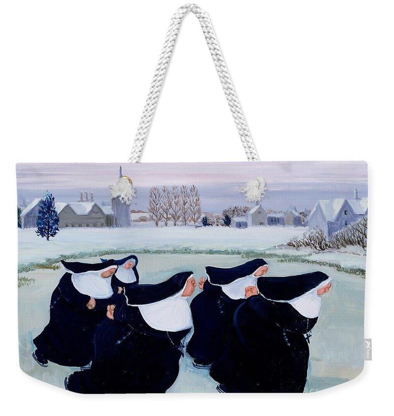 Ice Weekender Tote Bags