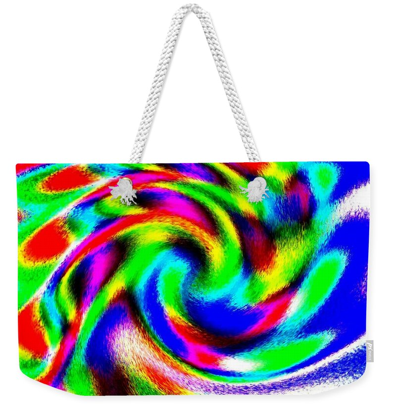 Conceptual Weekender Tote Bag featuring the digital art Winter Call Of The North by Will Borden