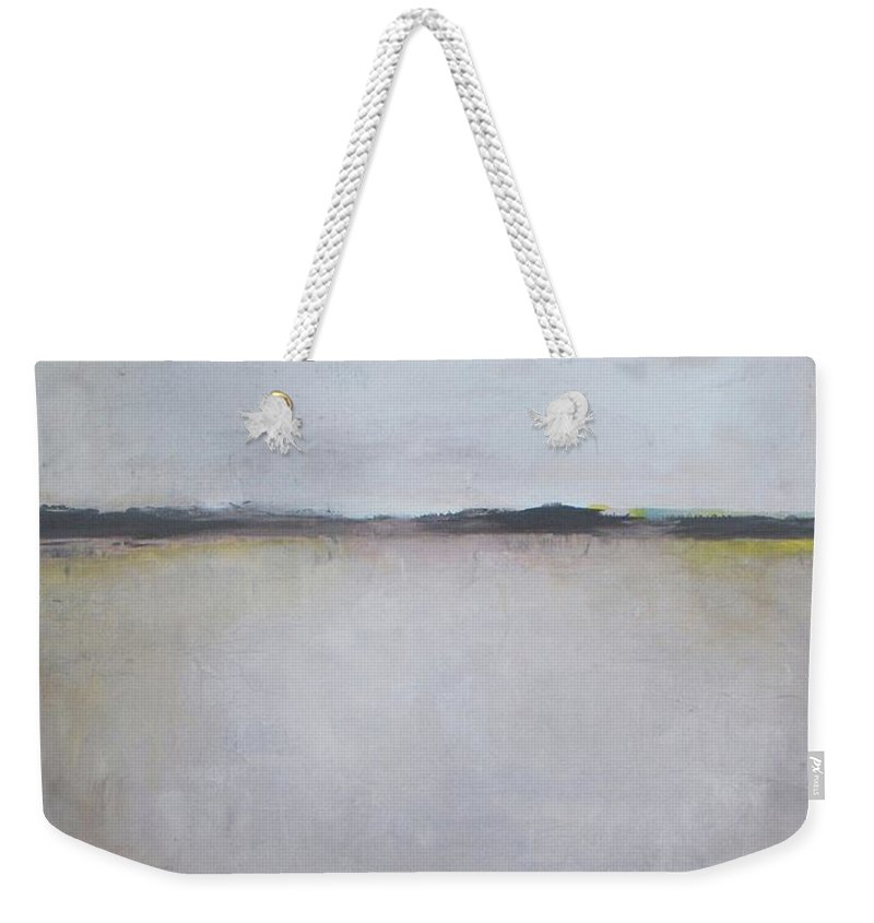 Abstract Weekender Tote Bag featuring the painting Winter Calmness by Vesna Antic