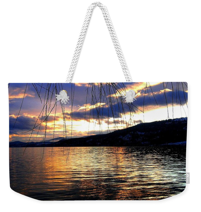 Sunset Weekender Tote Bag featuring the photograph Winter Drama by Will Borden