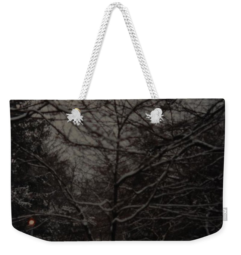 Lights Weekender Tote Bag featuring the photograph Winter Dusk by Rob Hans