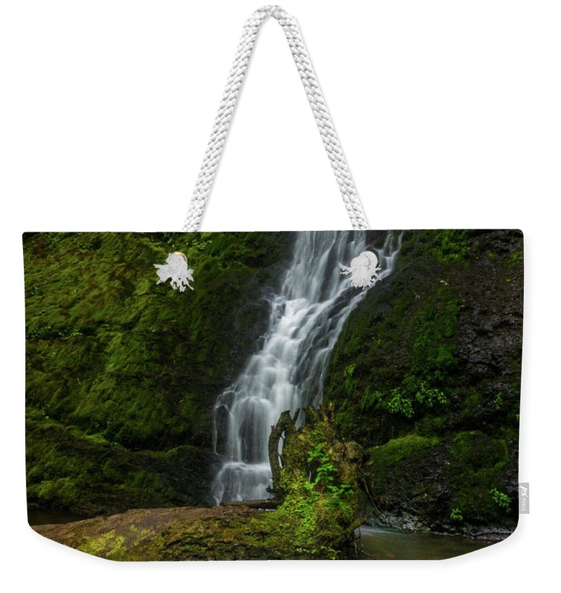 Michele James Photography Weekender Tote Bag featuring the photograph Winter Falls by Michele James