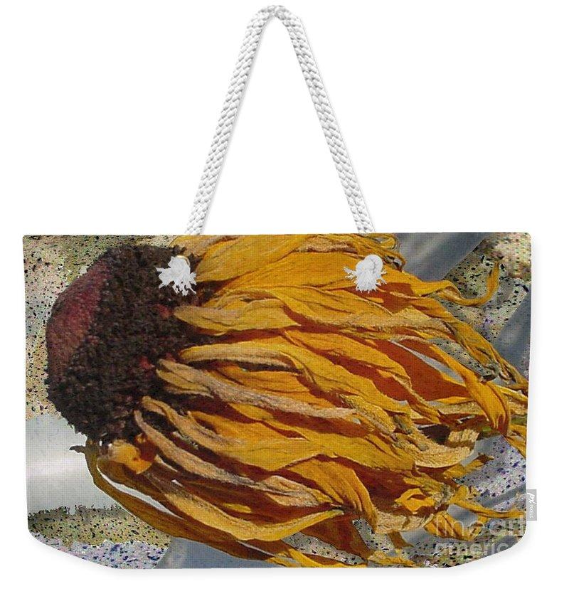 Digital Art Weekender Tote Bag featuring the digital art Winter Flower by Ron Bissett