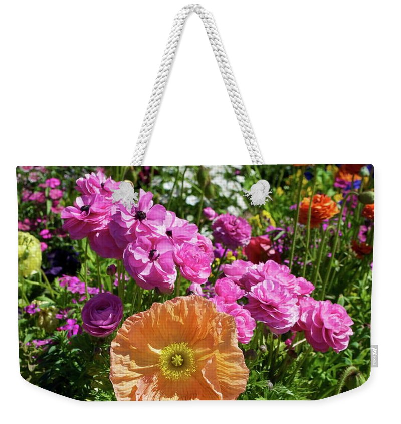 Flower Weekender Tote Bag featuring the photograph Winter Flowers by Gwyn Newcombe