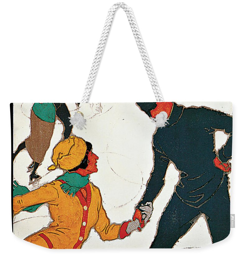 Winter In Davos Weekender Tote Bag featuring the painting Winter In Davos by Burkhard Mangol