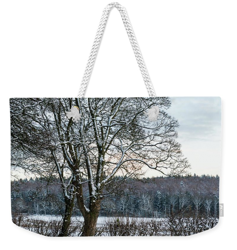 Winter Weekender Tote Bag featuring the photograph Winter In England, Uk by Amanda Elwell