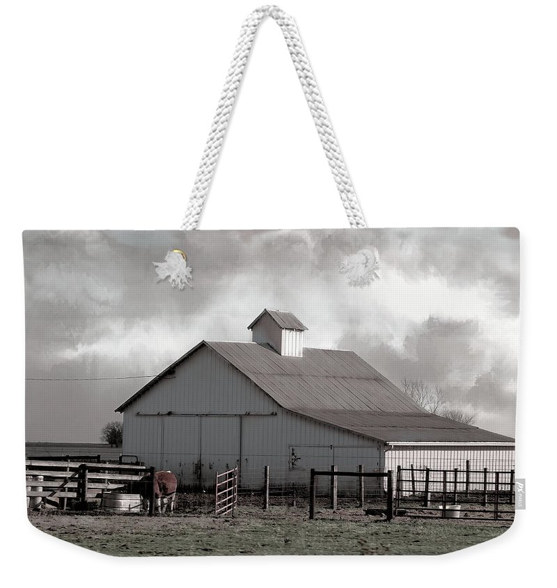 Theresa Campbell Weekender Tote Bag featuring the photograph Winter Is Coming by Theresa Campbell
