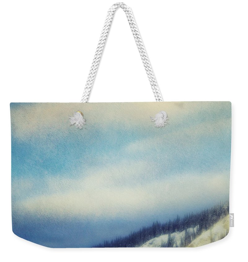 Hill Weekender Tote Bag featuring the photograph Winter Is So Quiet It Needs No Words by Priska Wettstein
