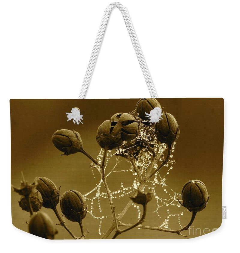 Droplets Weekender Tote Bag featuring the photograph Winter Jewels by Carol Groenen