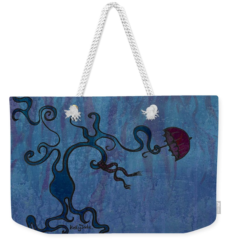 Tree Weekender Tote Bag featuring the digital art Winter by Kelly Jade King