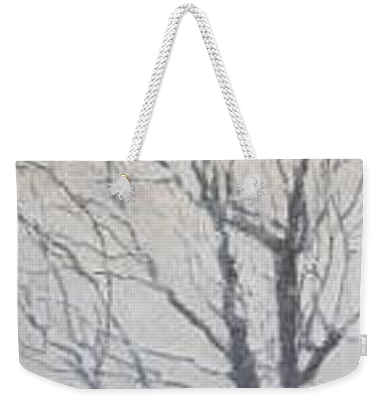 Tree Weekender Tote Bag featuring the painting Winter by Leah Tomaino