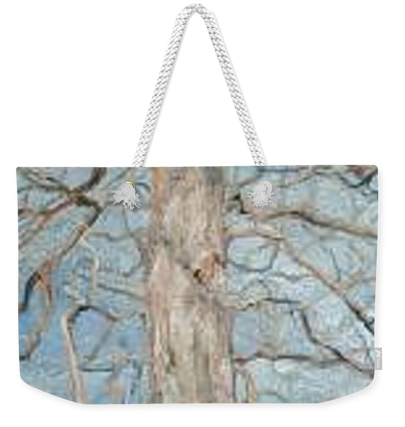 Tree Weekender Tote Bag featuring the painting Winter Morning by Leah Tomaino