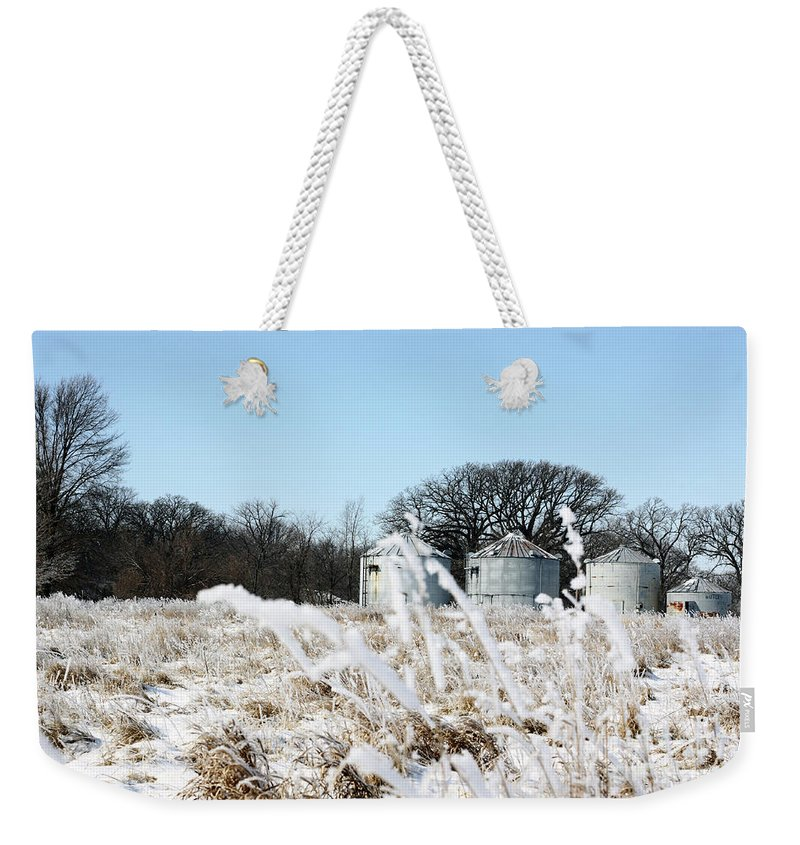 Agriculture Weekender Tote Bag featuring the photograph Winter On The Prairie Number 2 by Alan Look