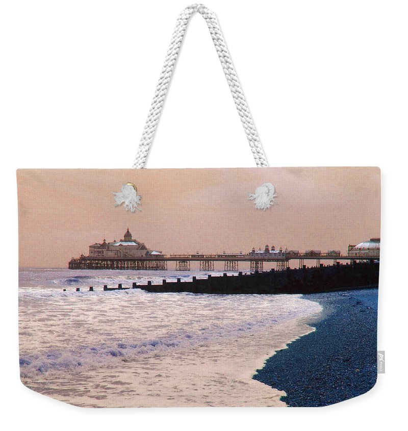 Winter Weekender Tote Bag featuring the photograph Winter Pier by Heather Lennox