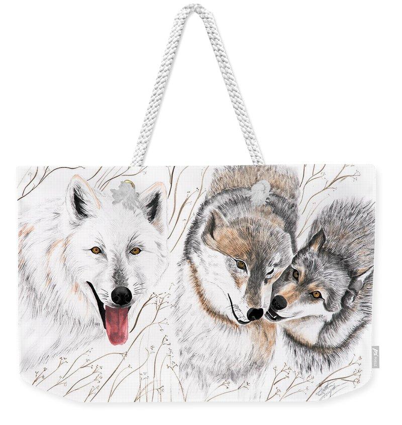 Joette Weekender Tote Bag featuring the painting Winter Play by Joette Snyder