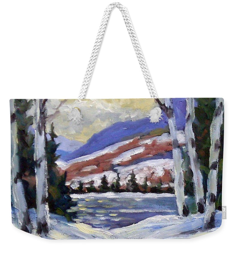 Art Weekender Tote Bag featuring the painting Winter Reflections by Richard T Pranke