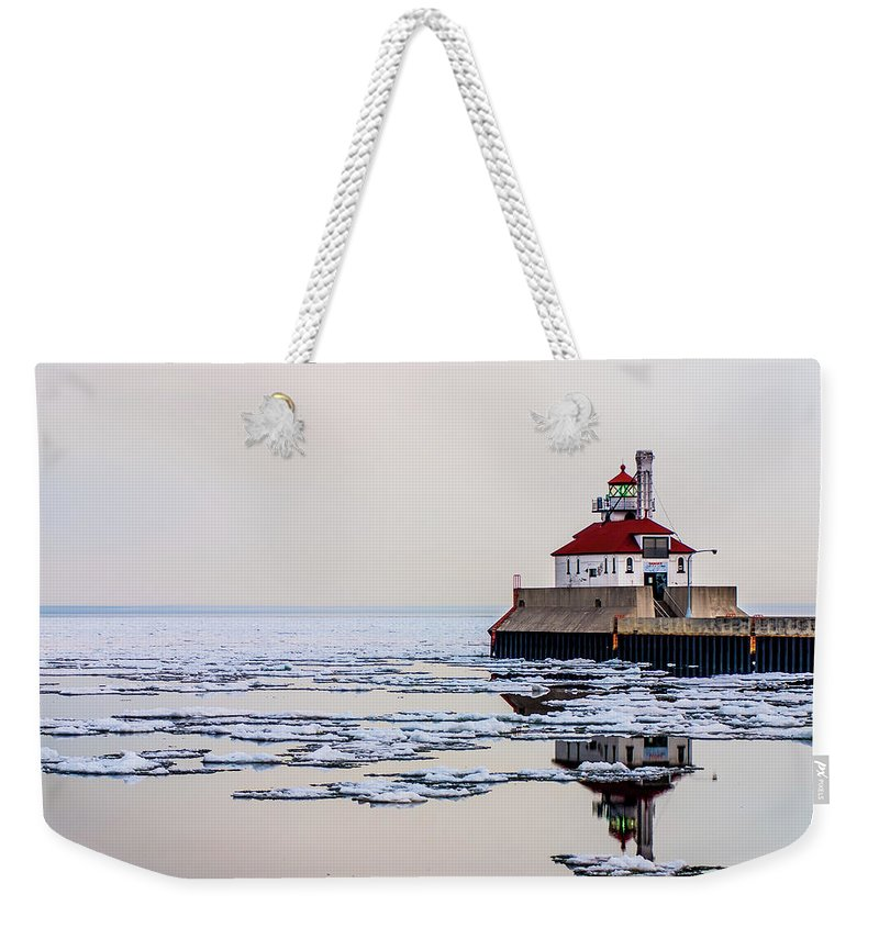 Water Weekender Tote Bag featuring the photograph Winter Reflections by Todd Aarnes