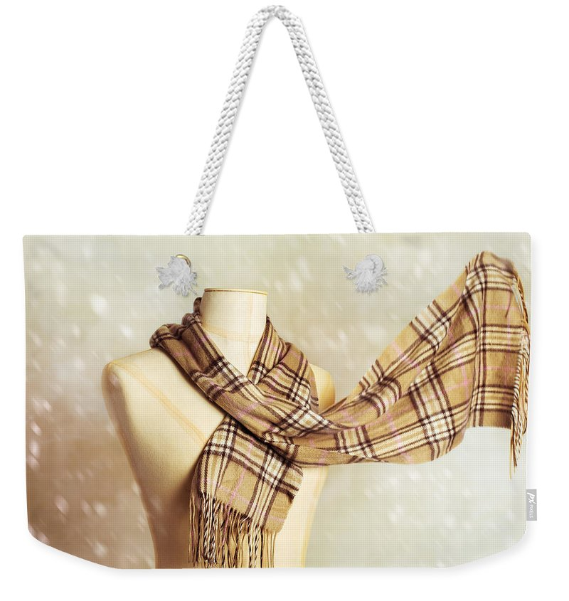 Fashion Weekender Tote Bag featuring the photograph Winter Scarf by Amanda Elwell