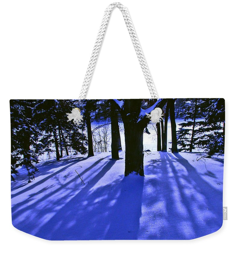 Landscape Weekender Tote Bag featuring the photograph Winter Shadows by Tom Reynen