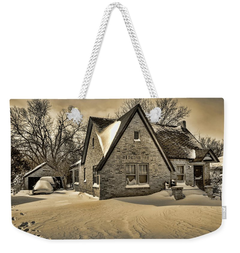 Winter Weekender Tote Bag featuring the photograph Winter Snow II by Ricky Barnard