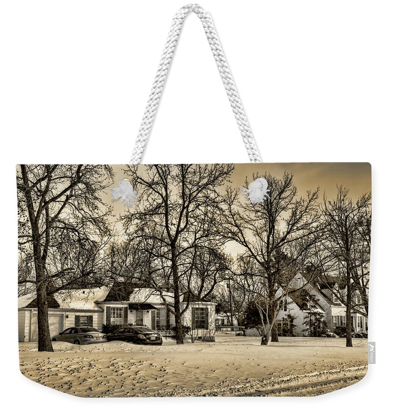 Winter Weekender Tote Bag featuring the photograph Winter Snow by Ricky Barnard