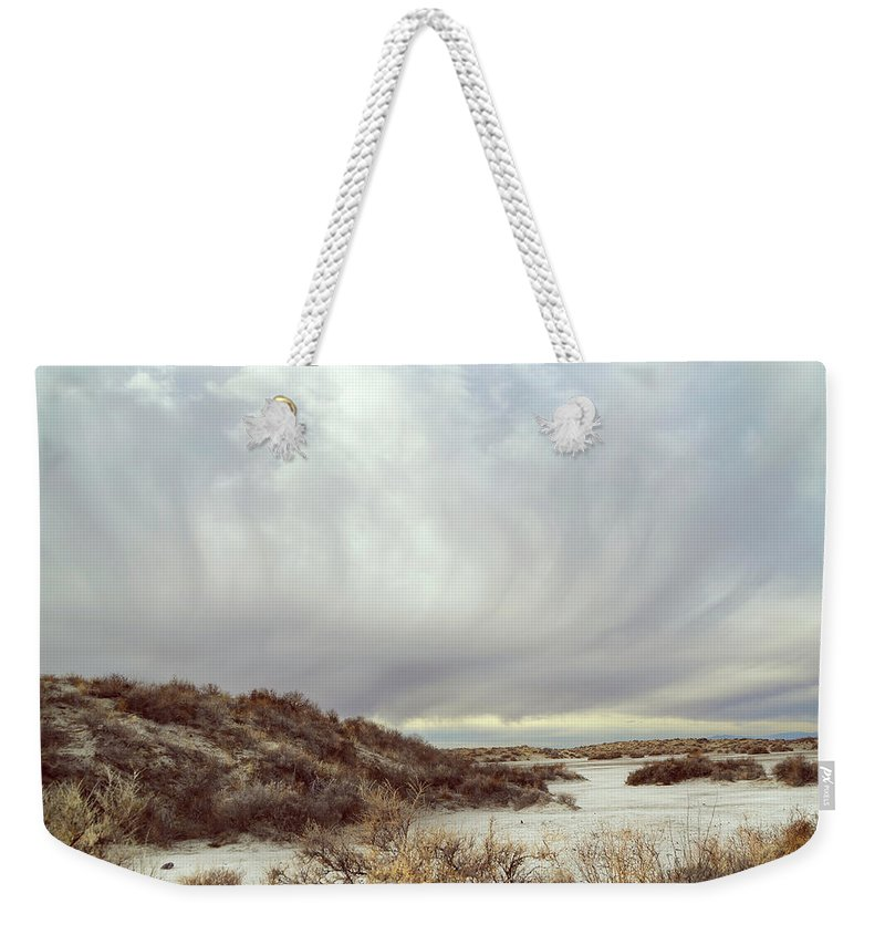 Landscapes Weekender Tote Bag featuring the photograph Winter Storm Clouds 2018-2289 by Karen W Meyer